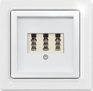 Cover TAE65F/3-wg for 3-socket TAE