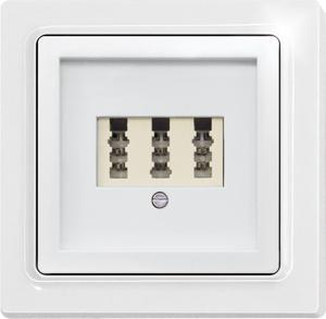 Cover TAE65/3-wg for 3-socket TAE