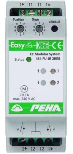 EnOcean Easyclickpro module JR, 4-channel, 2 HP, for 2 blinds/shutters