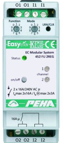 EnOcean Easyclickpro module Switching, 2-channel, 16A, 2 HP