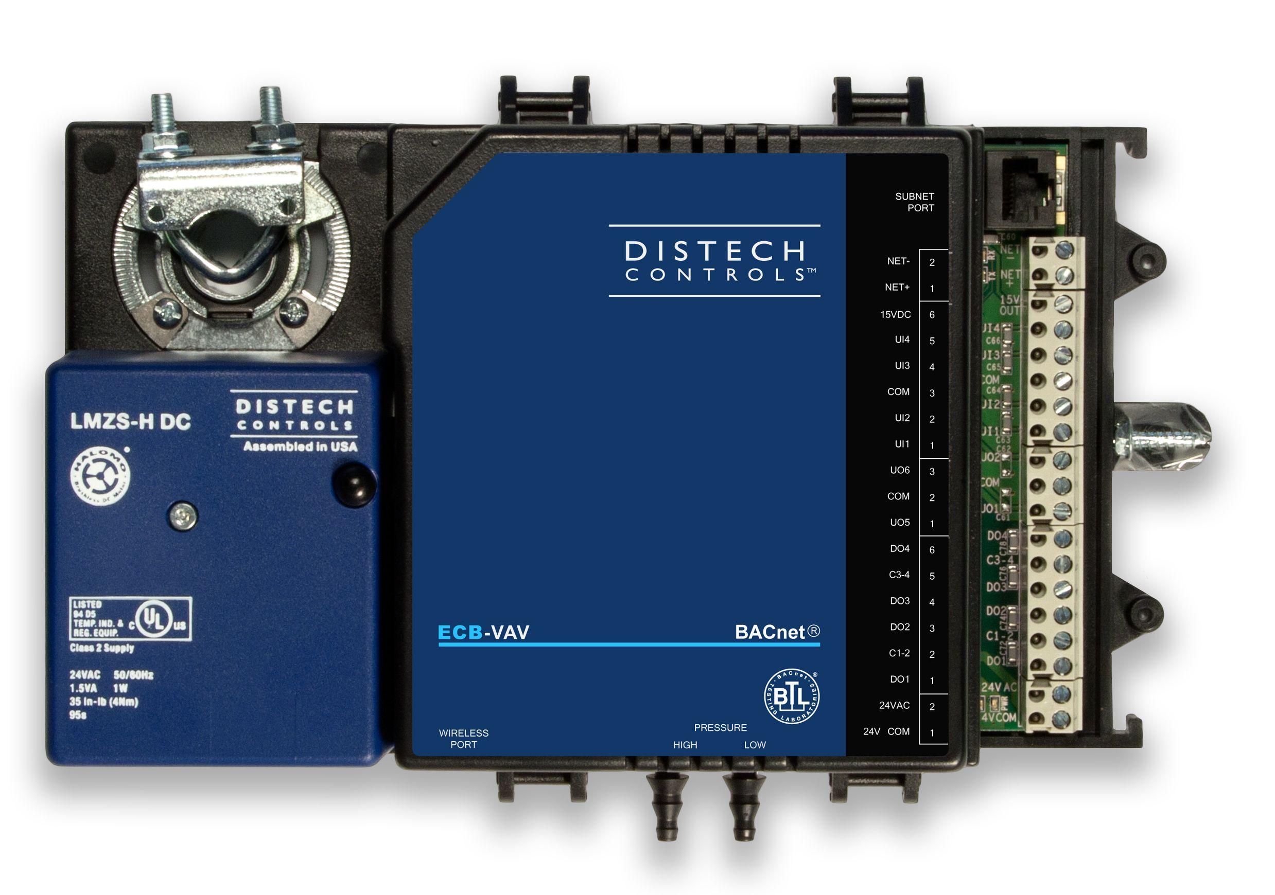 Distech ECB-VAV with Bacnet