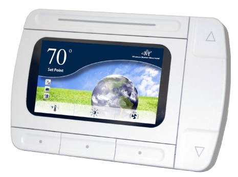 """24V Intelligent Thermostat with 4.3"""" LCD Screen"""