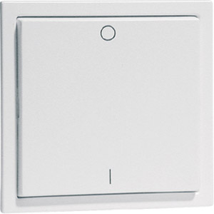 EnOcean Easyclick wall transmitter, NOVA, pure white high-gloss, 2 channel, printed I/O
