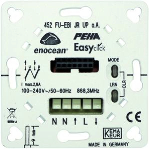EnOcean Easyclickpro flush-mounting receiver for blinds/shutters, with mounting plate