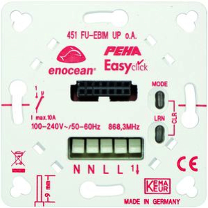 EnOcean Easyclickpro flush-mounting receiver, 1-channel, with mounting plate, with energy metering