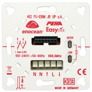 EnOcean Easyclickpro flush-mounting receiver for blinds/shutters, with mounting plate, with position detection