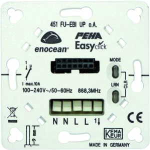 EnOcean Easyclickpro flush-mounting receiver, 1-channel, with mounting plate