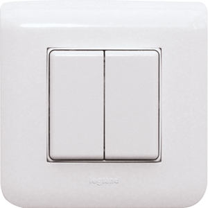 Wireless 4-way pushbutton FT4BL-lw 45x45mm Belgium, Legrand-white