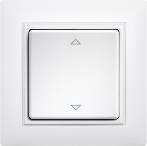 Wireless pushbutton FT4CH+2P-w without battery or wire, without frame, laser engraved, white