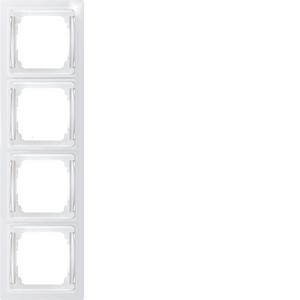 4-way flat frame RF4E-wg, pure white glossy