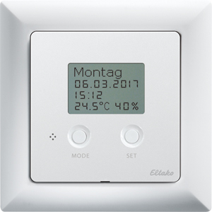 Tap-radio® clock thermo hygrostat TF-UTH55