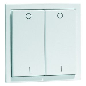 EnOcean Easyclick wall transmitter, NOVA, pure white high-gloss, 4 channel, printed I/O