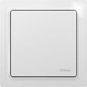 Wireless flat pushbutton actuator dimmer ­FFTA65DL-wg without N connection, pure white glossy