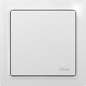 Wireless flat pushbutton actuator light switch FFTA65L-wg, pure white glossy