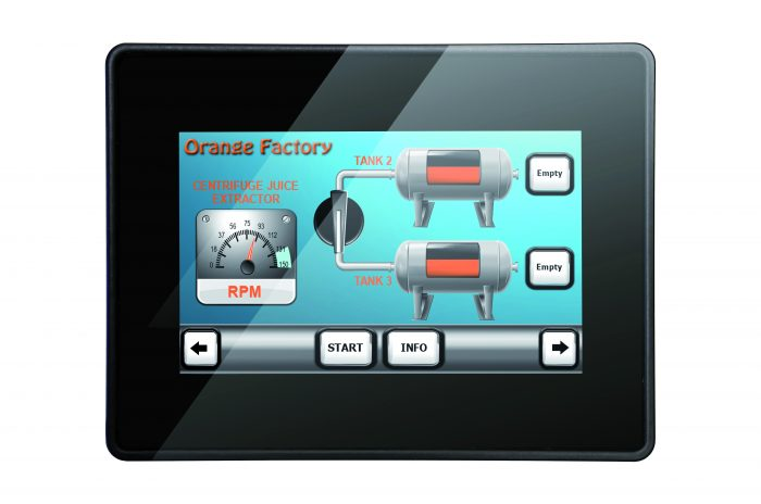 VL-705 STYLE, Control Panel with EnOcean-Interface, 5″ capacitive touchscreen
