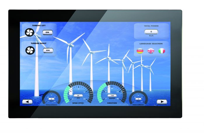 VL-721 STYLE, Control Panel with EnOcean-Interface, 21.5″ capacitive touchscreen