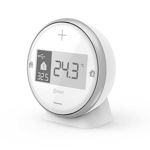PROGRAMMABLE THERMOSTAT For central or electric heating (ON/OFF or 6-mode pilot wire)