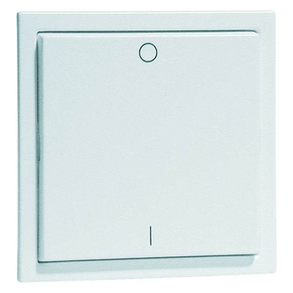 EnOcean Easyclick wall transmitter, NOVA, 2-channel, aluminium enamelled high-gloss, printed I/O