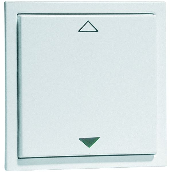EnOcean Easyclick wall transmitter, NOVA, 2-channel, aluminium enamelled high-gloss, printed UP/DOWN