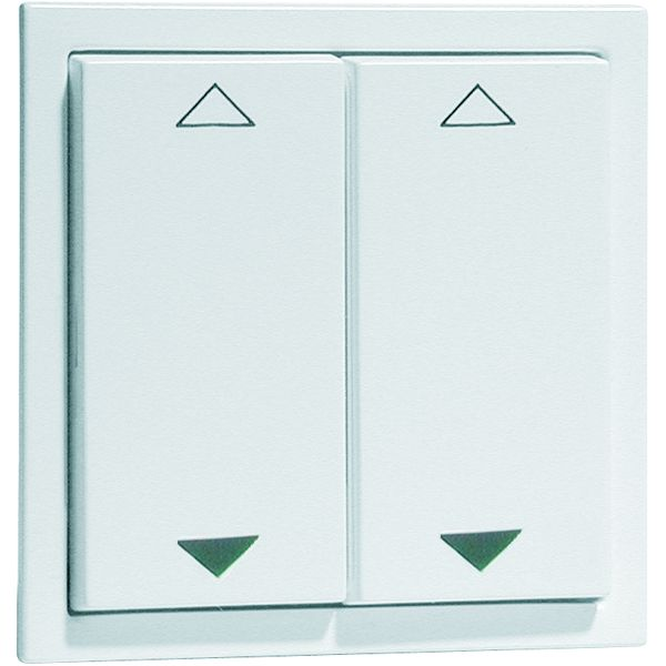 EnOcean Easyclick wall transmitter, NOVA, 4-channel, aluminium enamelled high-gloss, printed UP/DOWN