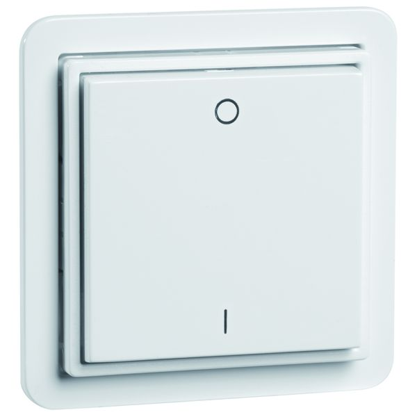 EnOcean Easyclick wall transmitter STANDARD, 2-channel, pure white, printed I/O