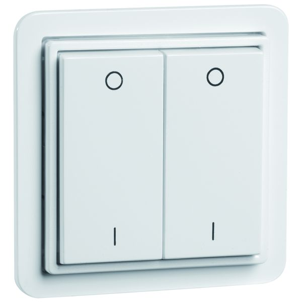 EnOcean Easyclick wall transmitter STANDARD, 4-channel, pure white, printed I/O