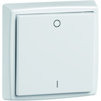 EnOcean Easyclick universal wall transmitter 61 x 61, 2-channels, pure white high-gloss, printed I/O