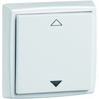 EnOcean Easyclick universal wall transmitter 61 x 61, 2-channels, pure white high-gloss, printed UP/DOWN