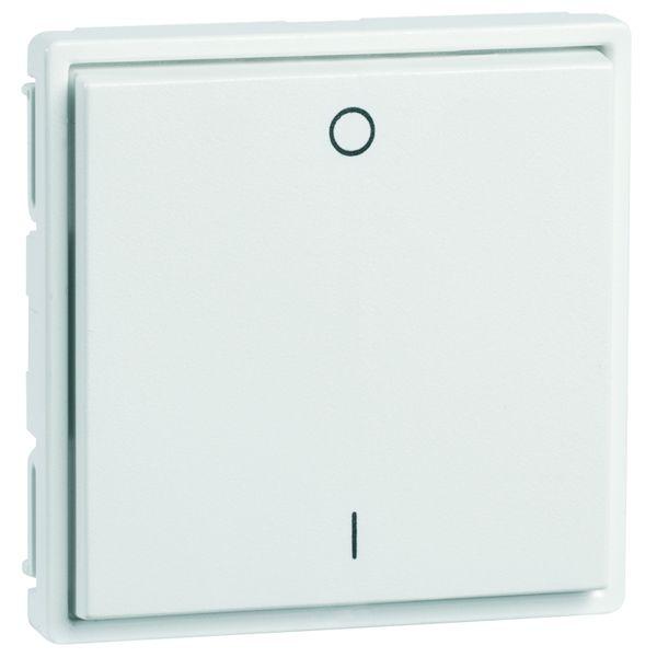 EnOcean Easyfit Universal wall transmitter 55 x 55mm, 2-channel, aluminium enamelled, printed I/O