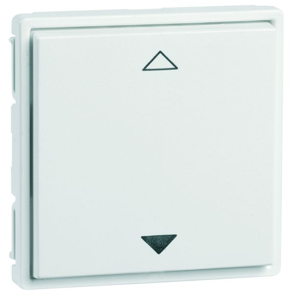 EnOcean Easyfit Universal wall transmitter 55 x 55mm, 2-channel, pure white high-gloss, printed UP/DOWN