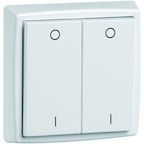 EnOcean Easyclick universal wall transmitter 61 x 61, 4-channels, pure white high-gloss, printed I/O