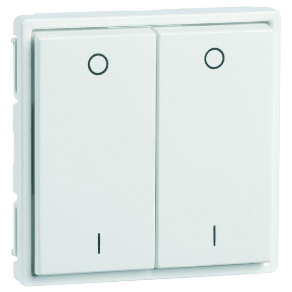 EnOcean Easyfit Universal wall transmitter 55 x 55mm, 4-channel, aluminium enamelled, printed I/O