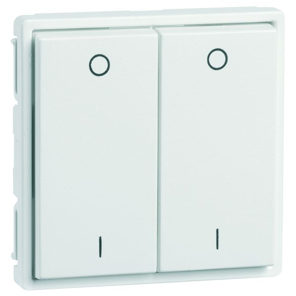 EnOcean Easyfit Universal wall transmitter 55 x 55mm, 4-channel, pure white high-gloss, printed I/O