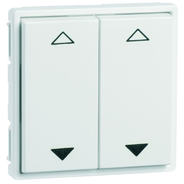 EnOcean Easyfit Universal wall transmitter 55 x 55mm, 4-channel, pure white high-gloss, printed UP/DOWN