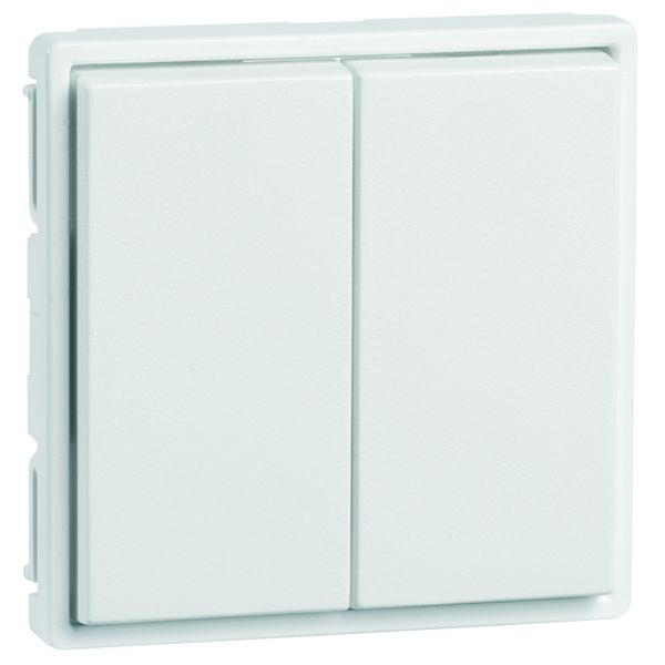 EnOcean Easyfit Universal wall transmitter 55 x 55mm, 4-channel, pure white high-gloss, without printing