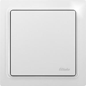 Wireless pushbutton actuator light switch FTA65L-wg, pure white glossy
