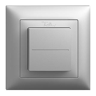 Feller EDIZIOdue EnOcean wireless pushbutton, single rocker silver