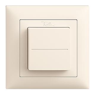 Feller EDIZIOdue EnOcean wireless pushbutton, single rocker crema
