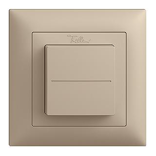 Feller EDIZIOdue EnOcean wireless pushbutton, single rocker sand