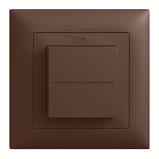 Feller EDIZIOdue EnOcean wireless pushbutton, single rocker coffee