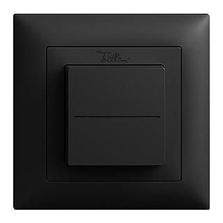 Feller EDIZIOdue EnOcean wireless pushbutton, single rocker black