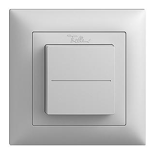 Feller EDIZIOdue EnOcean wireless pushbutton, single rocker light grey