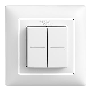 Feller EDIZIOdue EnOcean wireless pushbutton, double rocker white