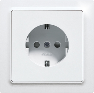 DSS with socket outlet front DSS55E-wg, pure white glossy