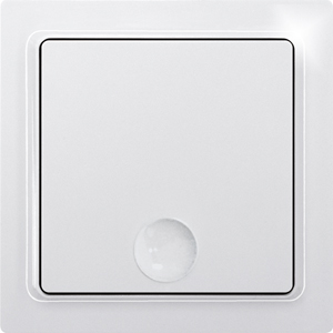 Eltako Wireless 1-way pushbutton F1T65-wg without battery and wire, pure white glossy