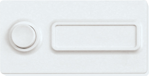Wireless and batteryless bell pushbutton FKD-wg, pure white glossy