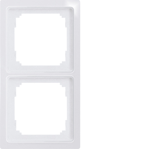 Double universal frame R2UE-wg white glossy