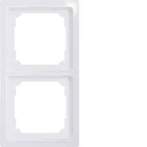 Double universal frame R2UE-wg white glossy