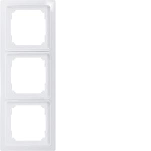 Triple universal frame R3UE-wg white glossy