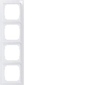 4-way universal frame R4UE-wg white glossy